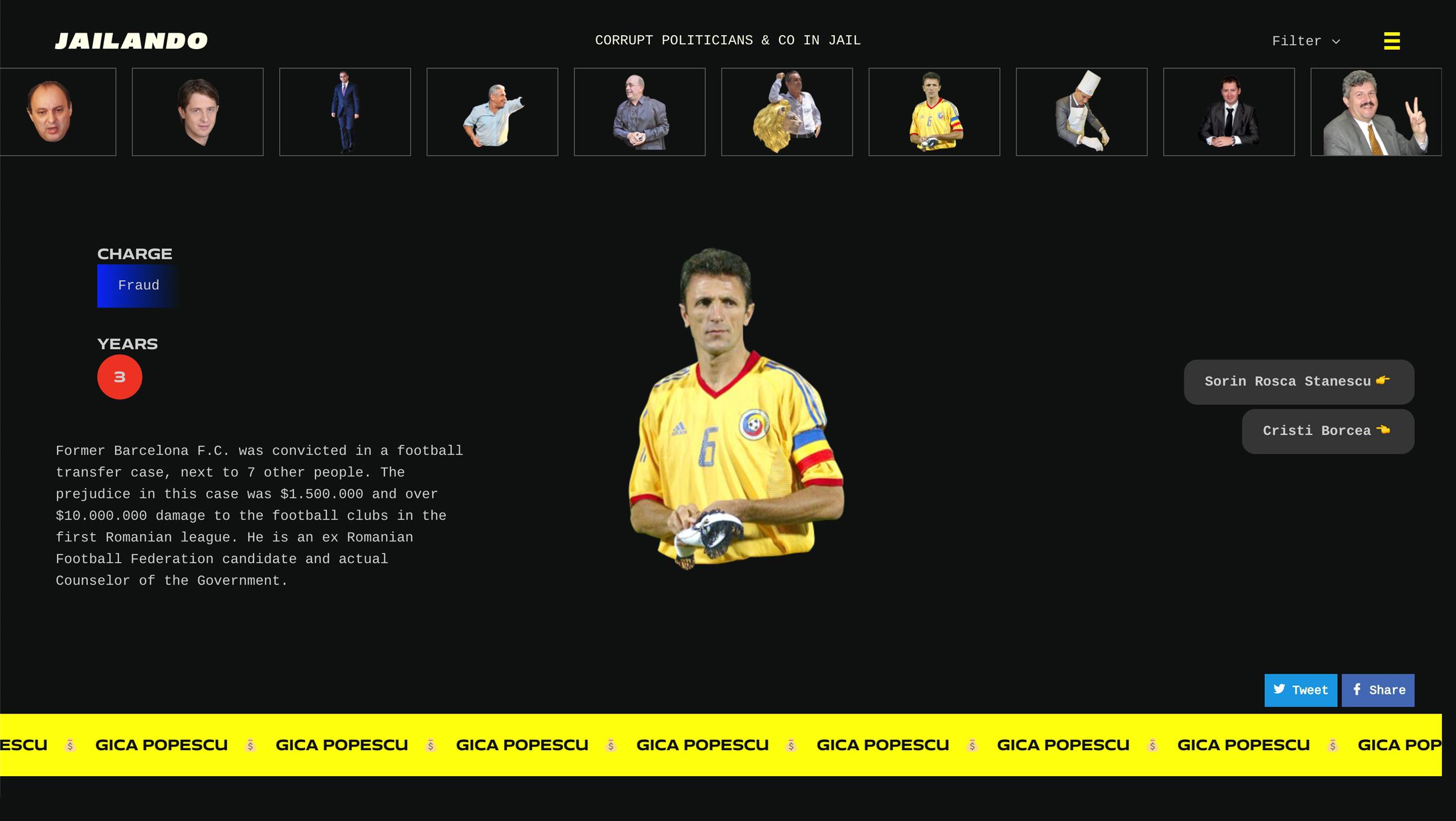 Jailando Gica Popescu Barcelona Romania